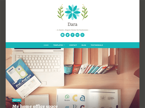 With bold featured images and bright, cheerful colors, Dara is ready to get to work for your business.
