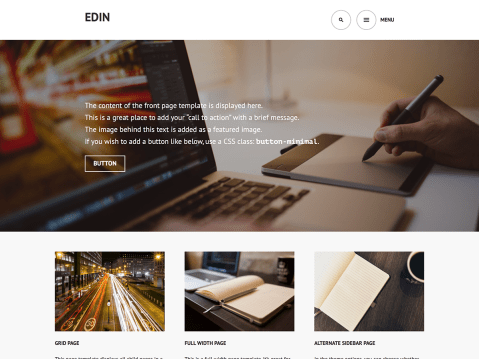 Edin is a modern responsive business and corporate theme that helps you to create a strong–yet beautiful–online presence for your business.