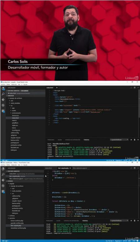Video2Brain: Curso Angular 2 avanzado: Gestión de archivos en PHP (2017)