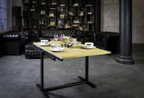 The Swing Shelf Turns Into A Dining Table In One Pull