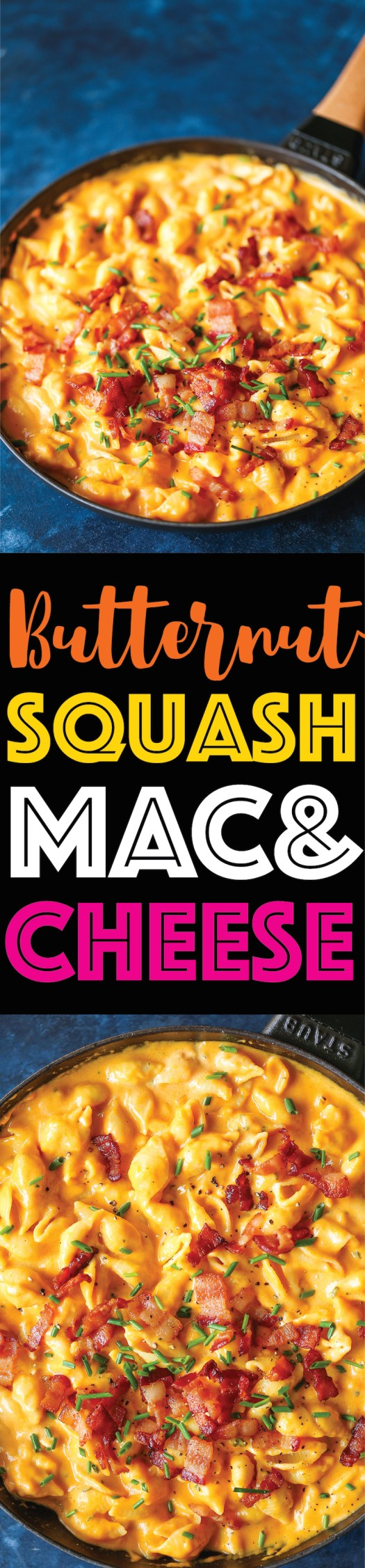 Butternut Squash Mac and Cheese -Mac and cheese at it's finest! So creamy, so rich + so amazing yet it's so much healthier than traditional mac and cheese!