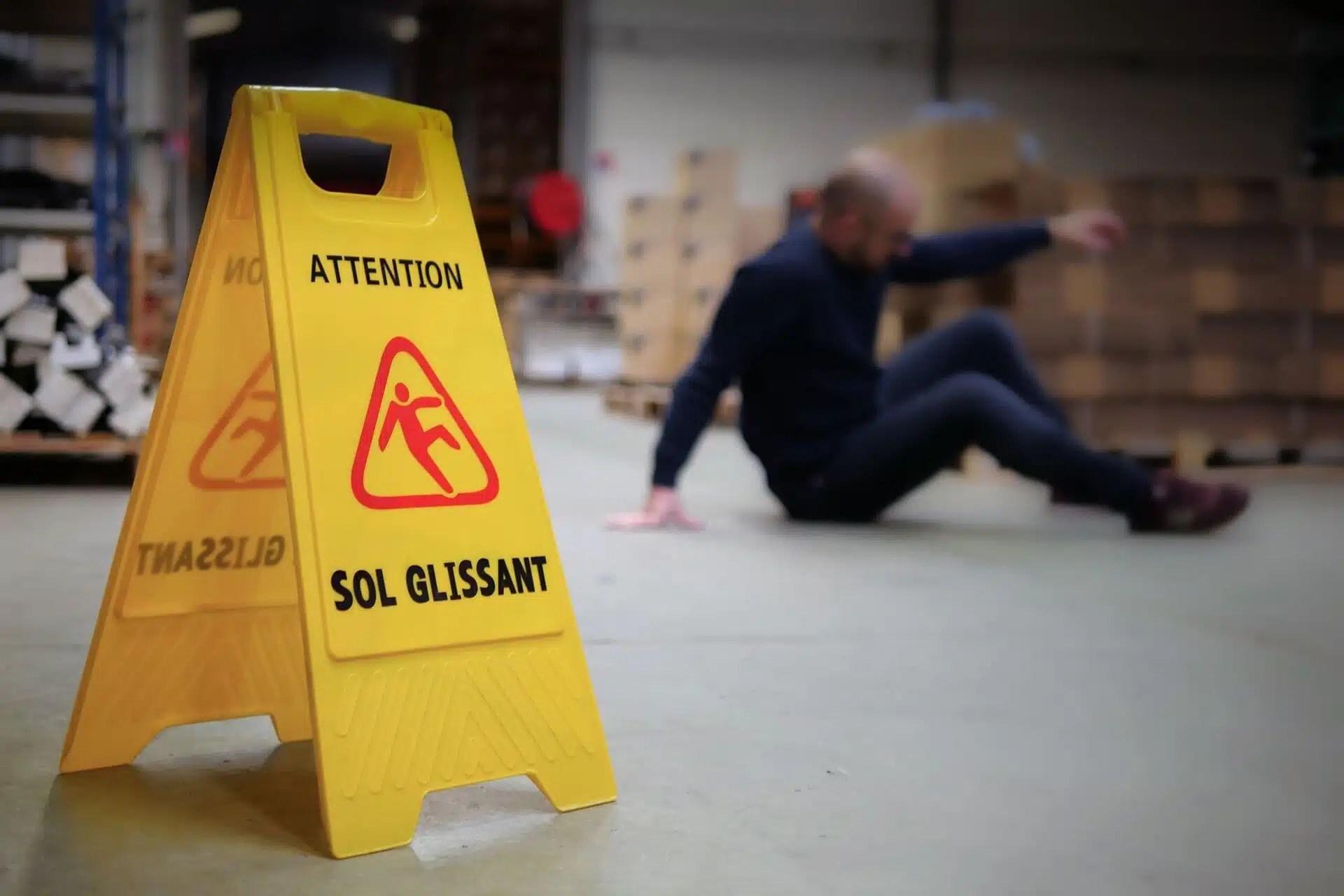 attention aux chutes de plain pied