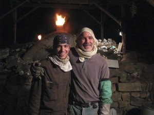 Joe Bruhin and an apprentice