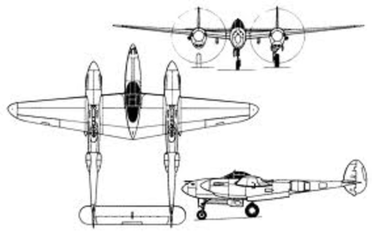 Lockheed P 38 Lightning Caza Pesado