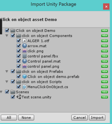 importing asset