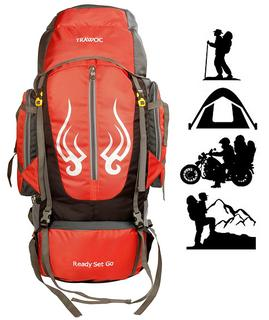 TRAWOC 60L Travel Backpack for Outdoor Sports, Camp Hiking, Trekking, Bag Camping, Rucksack