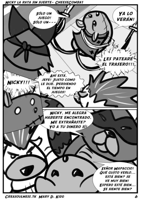 Nicky rata sin suerte comic P.6