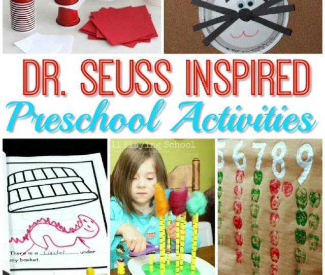 Dr Seuss Week Activity Ideas For Preschool
