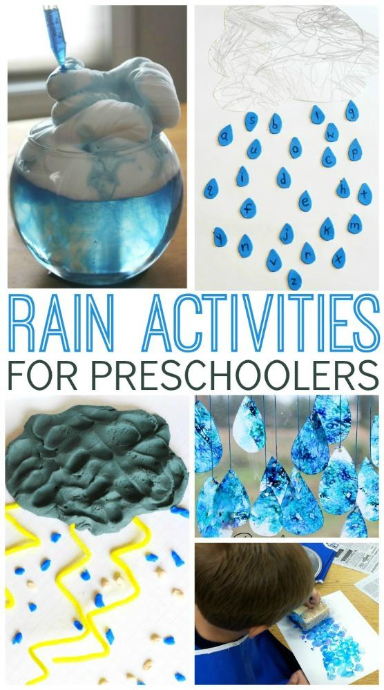 Rain Activities For Preschoolers Pre K Pages
