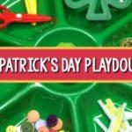 St. Patricks Day playdough tray