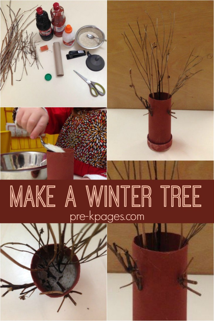 winter tree fine motor for preschool