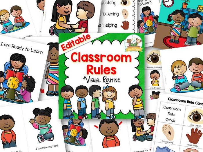 graphic regarding Kindergarten Classroom Rules Printable called Cartoon Shots Of Clroom Laws