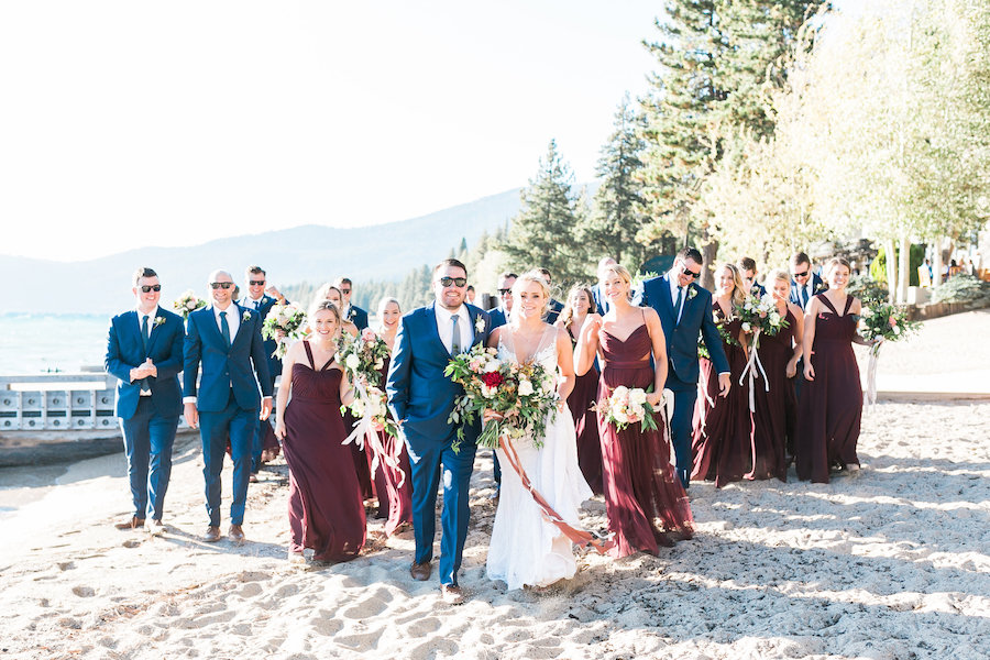 Elegant Fall Lake Tahoe Wedding with Gorgeous Floral Arch