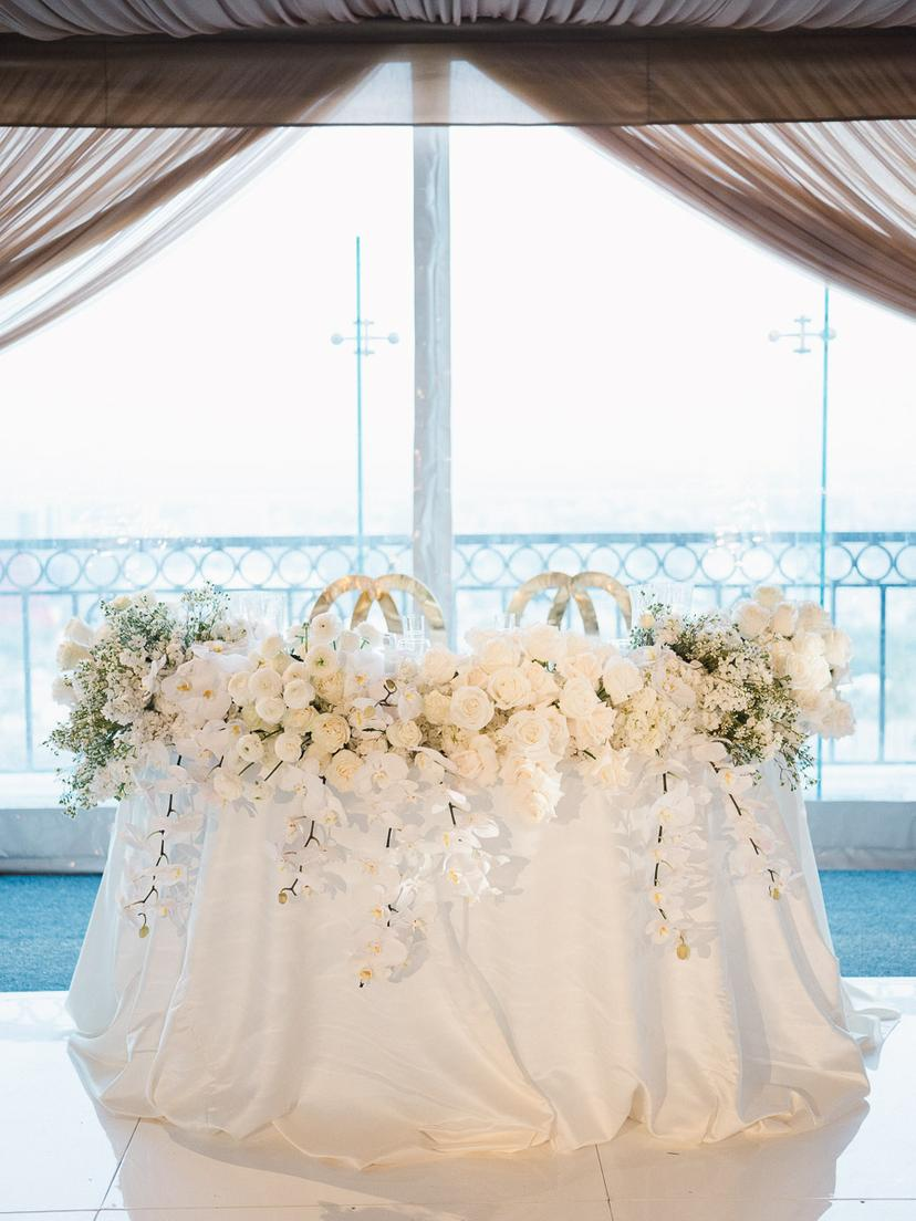 Timelessly Elegant Gold and White Wedding in Los Angeles