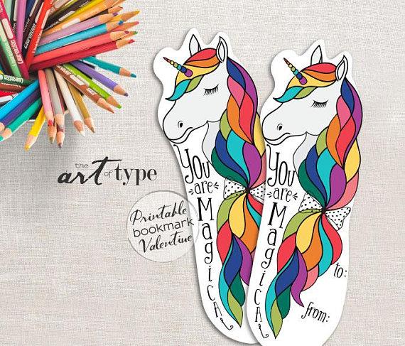 printable unicorn bookmarks # 30