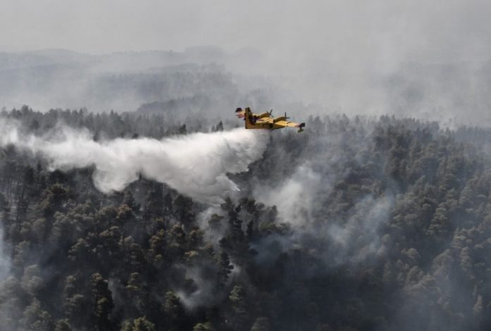 Ecological disaster on Greek island as fire burns on 2