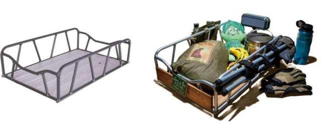リアキャリアに装着できる大型のコンテナ。テントや寝袋を積載したキャンプツーリングも視野に入るだろう。車体同様にサイクルベースあさひで購入できる。(税込 8,980円)