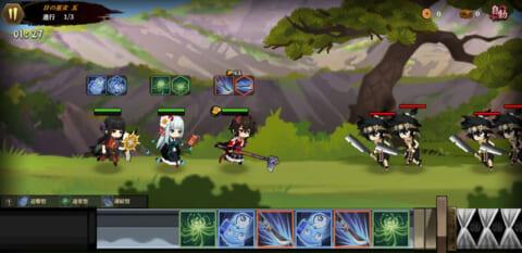 「剣が刻」戦闘画面