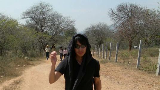 インド科学研究所で働いていた頃の菊池さん=菊池さんのFacebookから