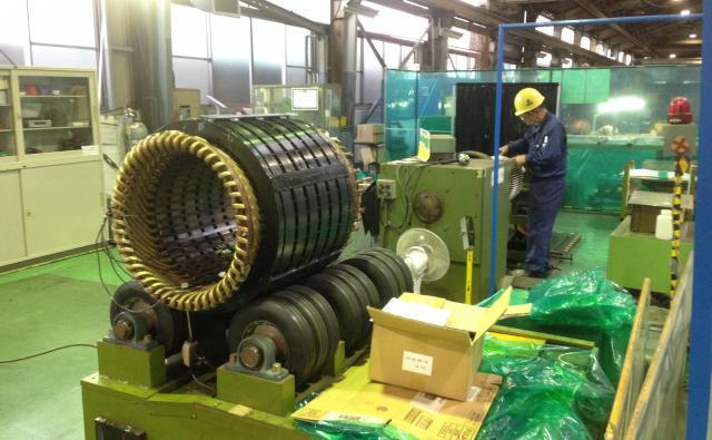 茨城製作所はモーターのメーカー。元々、日立系列の下請けの仕事が多い=茨城県日立市