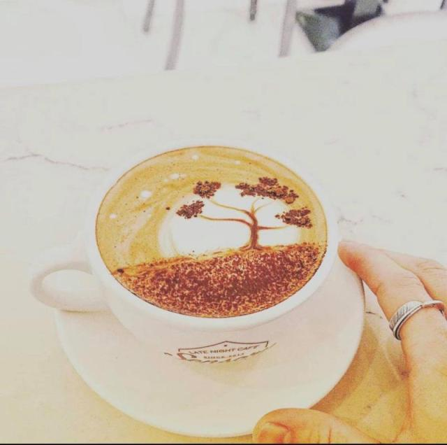 唯美的咖啡拉花