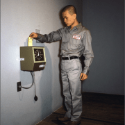 Tehching Hsieh with the Time Clock