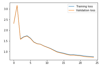 visualization of losses of cnn model