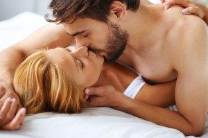 Girlfriend and boyfriend having sweet soft sex