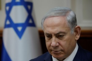 Israeli Prime Minister Benjamin Netanyahu attends the weekly cabinet meeting at the Prime Minister's office in Jerusalem December 24, 2017. Credit: Reuters/Amir Cohen