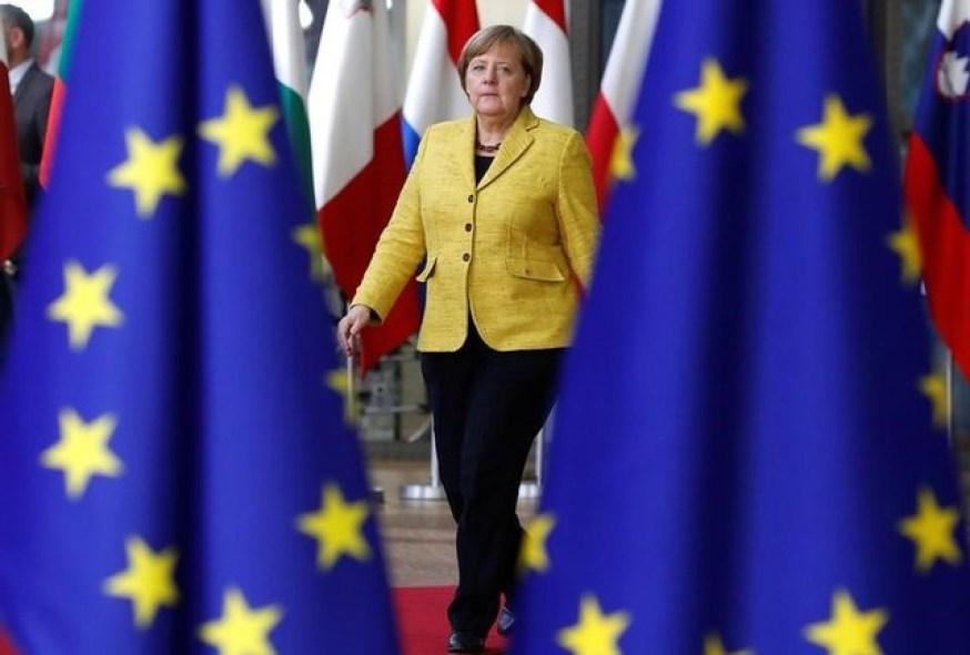 German Chancellor Angela Merkel arrives to attend the EU summit in Brussels, Belgium, December 14, 2017. Credit: Reuters/Yves Herman/Files