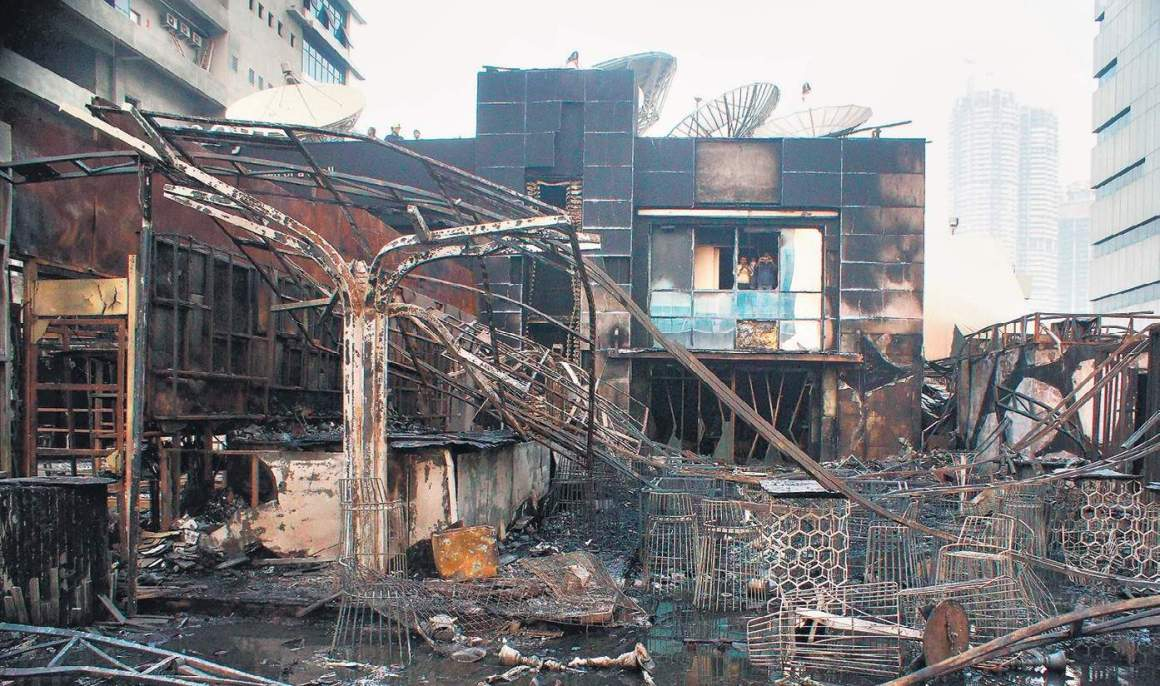 The Kamala Mills building after the fire. Credit: PTI