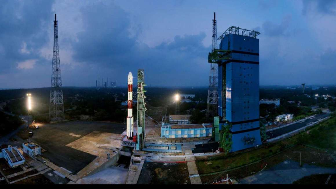 ISRO's PSLV satellite before the launch on Thursday. Credit: PTI