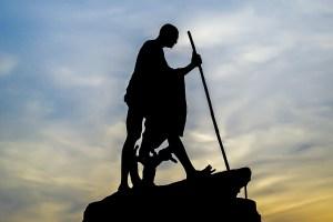 A statue of Gandhi. Credit: Pixabay