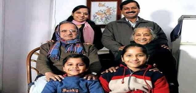 arvind kejriwal family