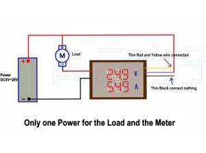 DC 200V 010A Digital Voltmeter Ammeter Red Blue LED Dual