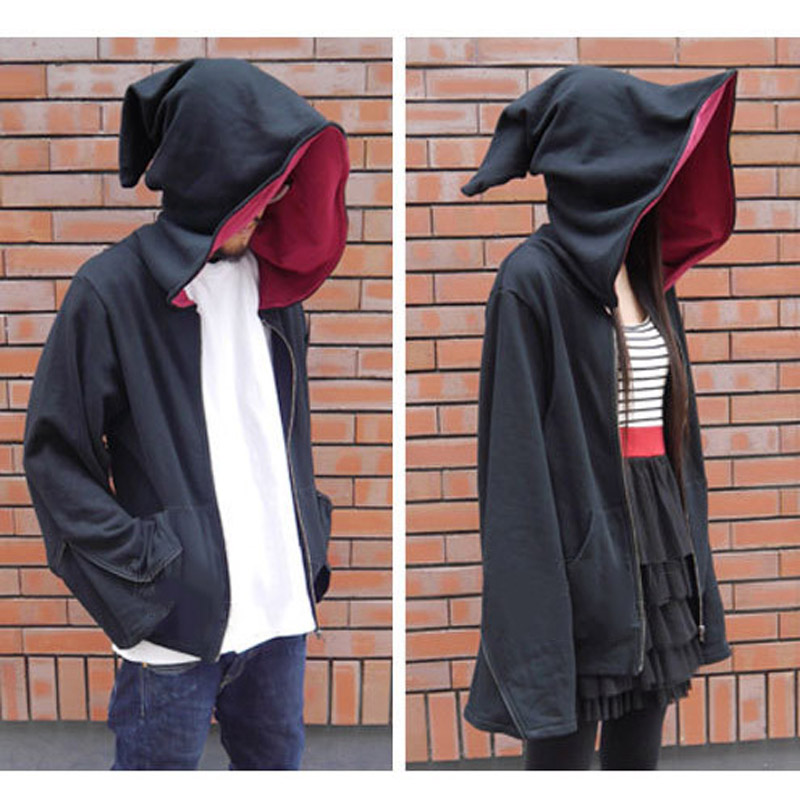 Magic Witch Wizard Costumes Casual Jacket Hoodie Sweatshirt Zipper Coat Cosplay