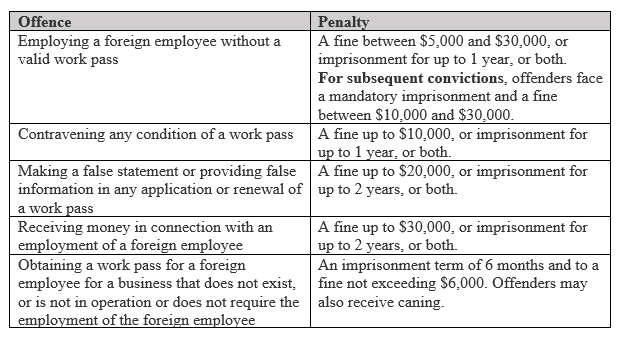 Types of work pass and permits for foreign professionals