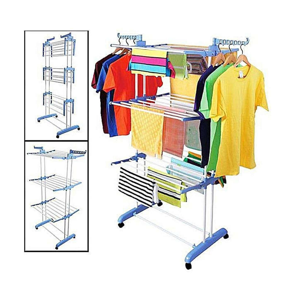 stainless foldable 6 tiers clothes