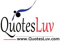 QuotesLuv Website Logo Design 5A. Minimalist White Theme. Medium Image Size:200x162px