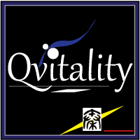 Qvitality: Natural Health for Men at Midlife. Branding Logo Design 1A. Image size:200x200px