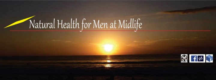 Qvitality: Natural Health for Men at Midlife. Facebook Page Cover Design 2A. Image size:851x315px