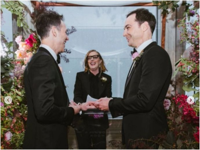 Jim Parsons-Todd Spiewak's Wedding Pictures Are Adorable
