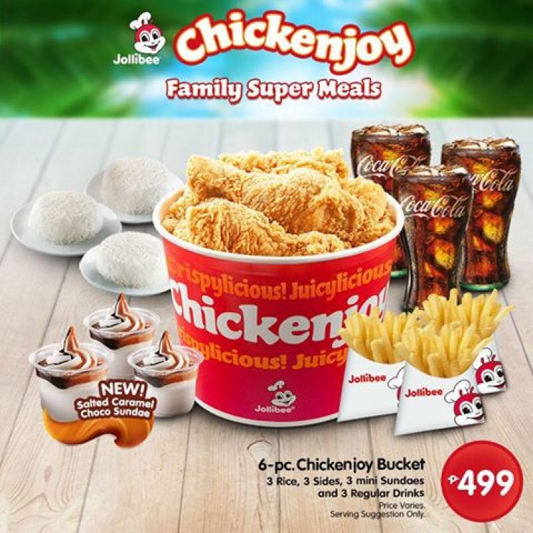Meal Menu Price Bucket Jollibee
