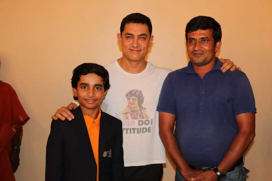 shubham jaglan with aamir khan