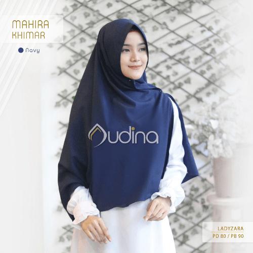 khimar navy, audina hijab