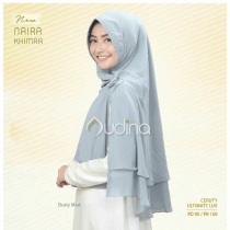 naira khimar, khimar dusty mint