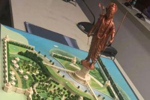 اتر پردیش کی یوگی حکومت کے ذریعے مجوزہ رام کا مجسمہ (فوٹو بشکریہ : اے این آئی)