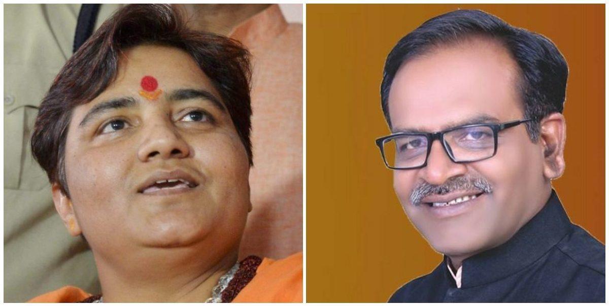 پرگیہ سنگھ ٹھاکر اور آلوک سنجر(فوٹو :پی ٹی آئی/فیس بک)