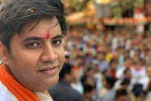 چھتیس گڑھ کے وزیراعلیٰ رمن سنگھ کے بیٹے ابھیشیک سنگھ (فوٹو بہ شکریہ : فیس بک)