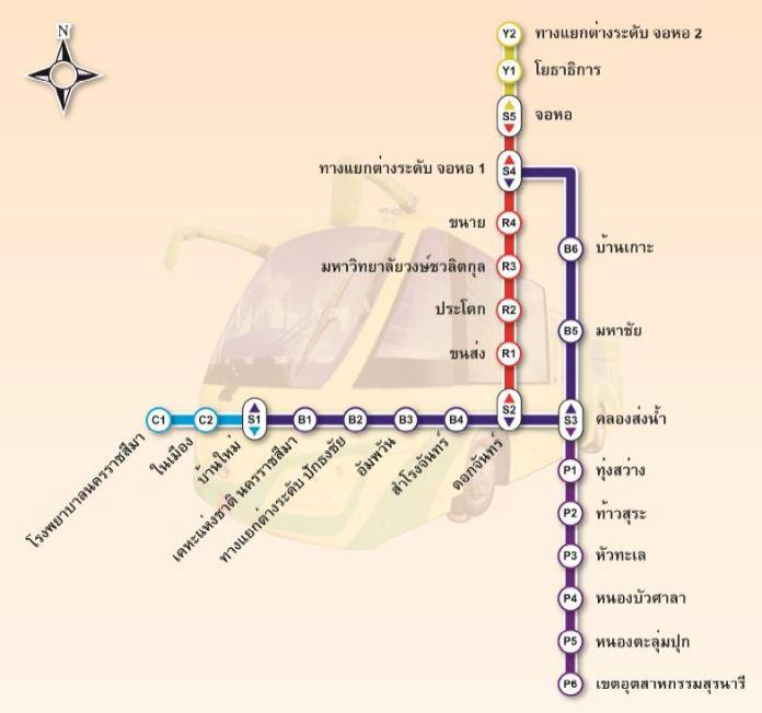 แผนผังสถานี KRT โคราช